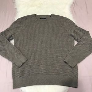 All saints waffle knitted men's sweater